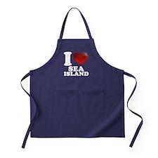 I Heart Sea Island Apron (dark)