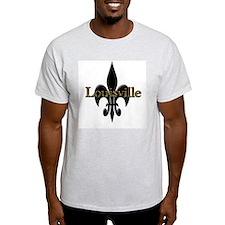 Louisville Fleur de Lis Ash Grey T-Shirt