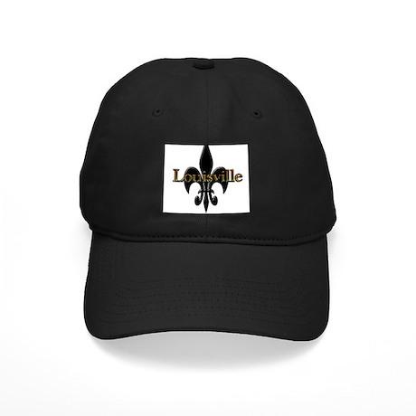 Louisville Fleur de Lis Black Cap