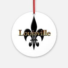 Louisville Fleur de Lis Ornament (Round)