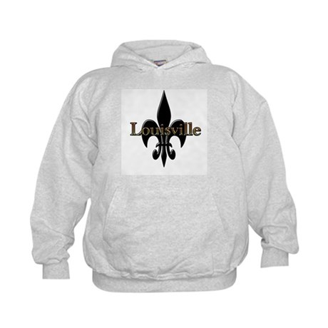 Louisville Fleur de Lis Kids Hoodie