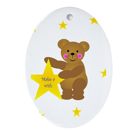 Make a Wish Oval Ornament