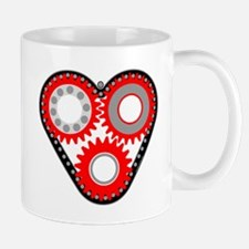 Red Mechanical Heart Mug
