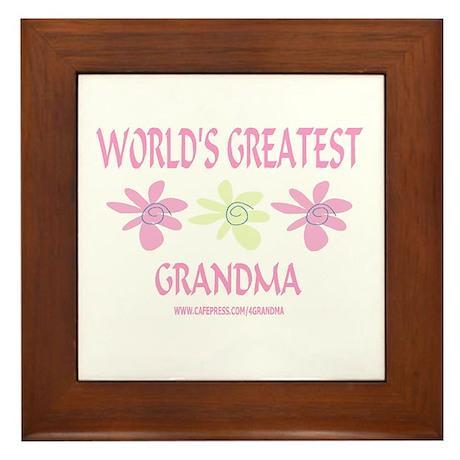 World's Greatest Grandma Framed Tile