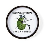 Complaint Dept. [Grenade] Wall Clock