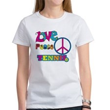 Love Peace Tennis Tee
