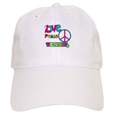 Love Peace Tennis Baseball Cap