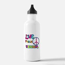 Love Peace Tennis Water Bottle