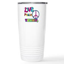 Love Peace Tennis Travel Mug