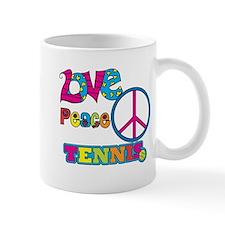 Love Peace Tennis Mug