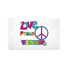 Love Peace Tennis 3'x5' Area Rug