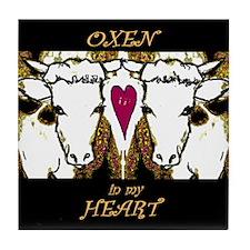 Oxen Tile Coaster