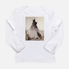 Young Oglala Girl Long Sleeve Infant T-Shirt