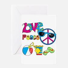 Love Peace Beach Greeting Card