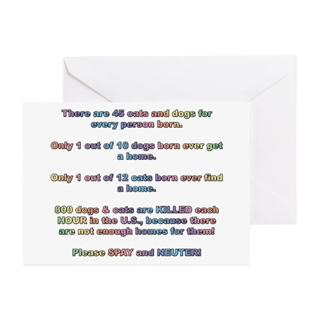 Spay & Neuter Pets Greeting Cards (Pk of 10)