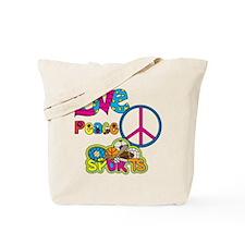 Love Peace Sports Tote Bag