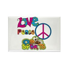 Love Peace Sports Rectangle Magnet