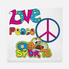 Love Peace Sports Queen Duvet