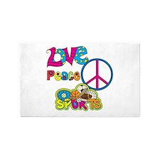 Love Peace Sports 3'x5' Area Rug