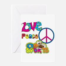 Love Peace Sports Greeting Card