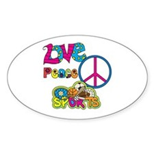 Love Peace Sports Decal