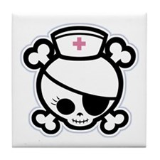 Nurse Molly II-bw Tile Coaster