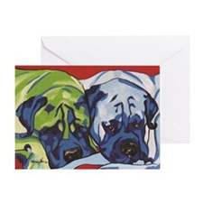 Two Bull Mastiffs Greeting Card