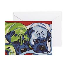 Two Bull Mastiffs Greeting Card