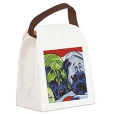 Two Bull Mastiffs Canvas Lunch Bag