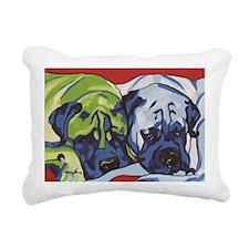 Two Bull Mastiffs Rectangular Canvas Pillow