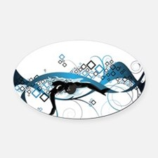 Making Waves Oval Car Magnet