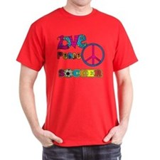 Love Peace Soccer T-Shirt