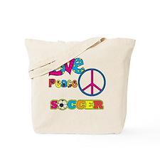 Love Peace Soccer Tote Bag