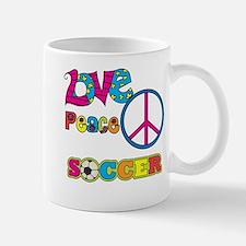 Love Peace Soccer Mug