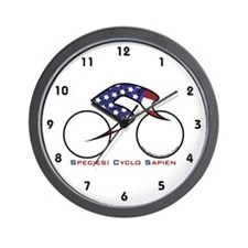 Stars&Stripes Bicycling Wall Clock