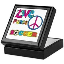 Love Peace Soccer Keepsake Box