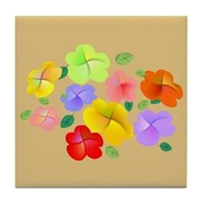 Spring Flowers in Bloom Tile Coaster