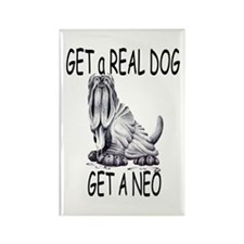 Get a Real Dog ~ Get a Neo Rectangle Magnet