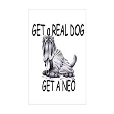 Get a Real Dog ~ Get a Neo Rectangle Decal