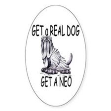 Get a Real Dog ~ Get a Neo Oval Decal