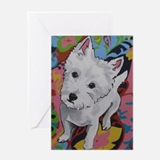 Westie - Poppy Greeting Card