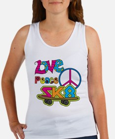 Love Peace Skate Women's Tank Top