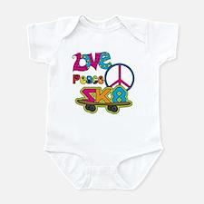 Love Peace Skate Infant Bodysuit