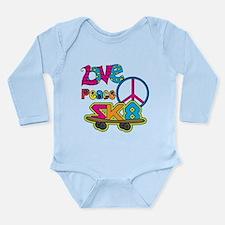 Love Peace Skate Long Sleeve Infant Bodysuit