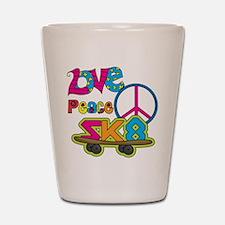 Love Peace Skate Shot Glass