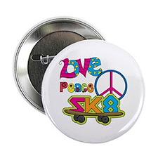 "Love Peace Skate 2.25"" Button (10 pack)"