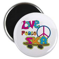 """Love Peace Skate 2.25"""" Magnet (10 pack)"""