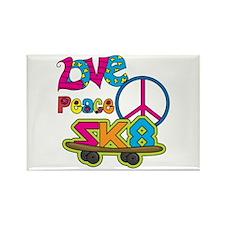 Love Peace Skate Rectangle Magnet