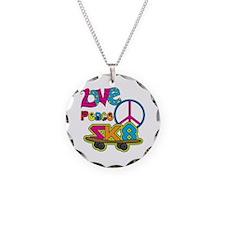 Love Peace Skate Necklace