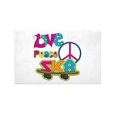 Love Peace Skate 3'x5' Area Rug